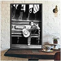 Rzhss ポスターと版画ジェームズディーン煙タバコ映画スター俳優壁アート写真キャンバス絵画家の装飾Quadrocuadros-60X90Cmフレームなし