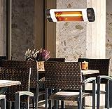 DMS® Infrarotstrahler 2500 Watt Heizstrahler Terrassenstrahler Wärmestrahler mit Fernbedienung und Timer, Wandhalterung, Quarzstrahler Terrassenheizer Infrarot Heizung Heizkörper Temperatur 3-Stufig
