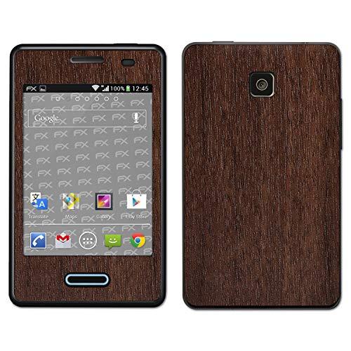 atFoliX Skin Compatible con LG Optimus L3 II E430, Sticker Pegatina...