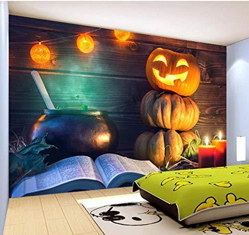Suwhao aangepaste 3D foto behang pompoen lantaarn Ktv Bar Restaurant Halloween muur decoratie muurschildering woonkamer slaapkamer 250x175cm