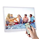 Andoer 15 inch Digital Picture Frame 1280 x 800 HD Resolution 16:9 Wide Picture Screen Display with Remote Control White