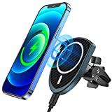 Magnetic Wireless Car Charger Compatible with iPhone 13/13 Pro/13 Pro Max/13 Mini/12/12 Pro/12 Pro Max/12 Mini, APMIEK Fast Charging Air Vent Holder Charger Compatible with MagSafe Case