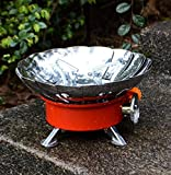 chhotu Portable Gas Stove Camping Steel Stove Picnic Gas Burner red with Bag
