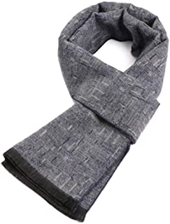 ZHXHX Scarf for Men Faux Cashmere Brushed Casual Mens Scarf Morse Code Pattern Block-Color Scarf 18032Cm B