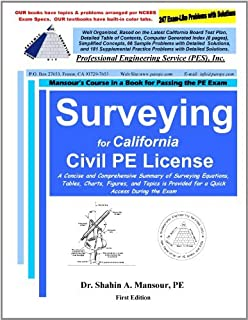 By Dr. Shahin A. Mansour Surveying for California Civil PE License (1st First Edition) [Paperback]