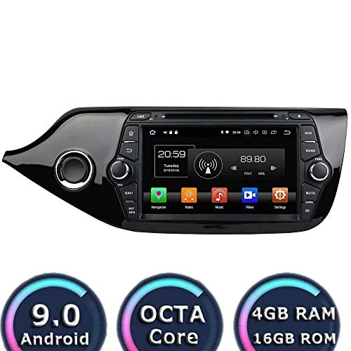 Laicve Android 9.0 estéreo Doble DIN Coche Radio del GPS de navegación para Kia Ceed 2014 2015 2016 2017 Pantalla táctil Reproductor Multimedia de Audio y vídeo del Receptor RDS WiFi Espejo de Enlace