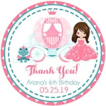 Pink Princess Birthday Party Stickers, Pink Princess Party Favor Tags, Pink Princess Party Decorations, Pink Princess Birthday Supplies