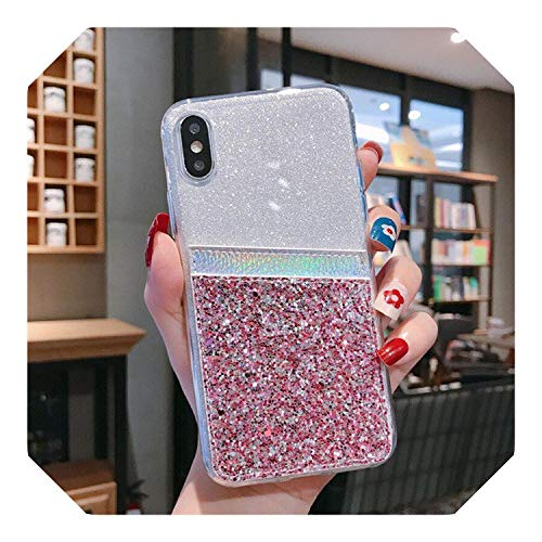 Moda Bling Glitter Phone Case Per iPhone 6 6S 7 8 Plus 11 Pro Max Card Slot Housing On The 5 5S XR XS Max Silicone Back Cover