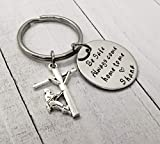 Lineman Be Safe Keychain with Lineman Charm, Always Come Home to Me Keychain, Lineworker Be Safe Gift, Come Home Safe Lineman Gift
