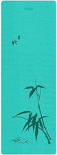 ZJZDLST Tapis De Yoga, Tapis De Yoga Anti-dérapant Portable Allongeant L'élargissement du Tapis De Fitness pour Femme avec Tapis d'exercice Unique 183 × 66 Cm, épaisseur 4 Mm