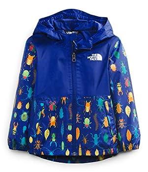 The North Face Toddler Zipline Rain Jacket Bolt Blue Critter Crawl Print 3T