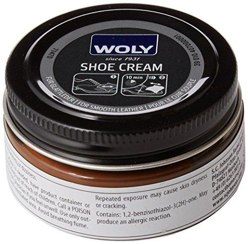 Woly Shoe Cream, Betún y reparación de zapatos Unisex Adulto, Marrón (Coffee), 50.00 ml