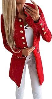 a36e13f5464 Fainosmny Women Coat Slim Jacket Christmas Cardigan Lapel Blazer Suit  Simple Office Jacket Coat Long-