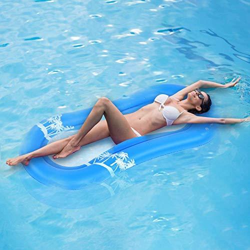 Cikonielf - Cama hinchable para piscina, hamaca de agua, multiusos, plegable, para adultos y niños