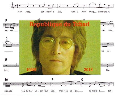Stampbank I Beatles francobolli per Collezionisti - John Lennon Imperforate Miniatura Francobollo minifoglio - Condizione Superb e mai incernierate - 2013 / Ciad / 1000F