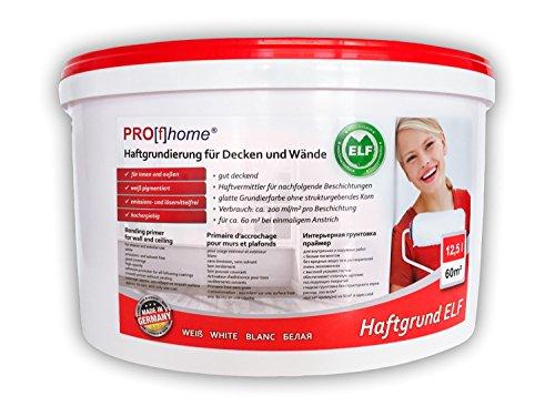 Haftgrund PROFHOME Decken Wand-Grundierung Tapetengrund für Renoviervlies Malervlies Tapeten weiß ELF 12,5 Ltr für 60 qm