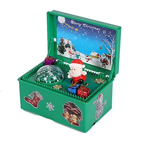 Carillon di Buon Natale, Carillon di Natale a Carica LED con Babbo Natale Che Canta e Ornamenti di Colore Lampeggiante Regali per la Moglie Grilfriend Kids