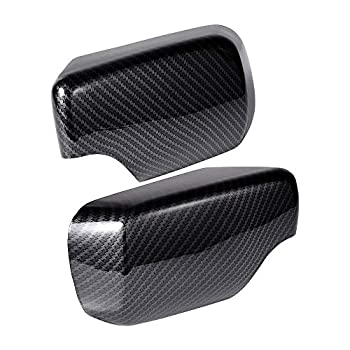 1 Pair Carbon Fiber Rearview Caps Side Mirror Cover Compatible with 1998-2005 BMW 3 Series E46 325i 325xi 330i 330xi 325i 325xi Sedan Hatchback Touring