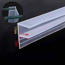 Draft Stopper Glass sin marco Sliding Sash Screen Puerta de la ducha Sellos de silicona Tira burletes 10mm 3//8 pulgada de espesor de vidrio 3 metro 9.84 pies Big h