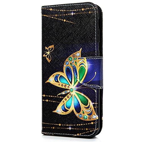 Preisvergleich Produktbild Vagenno Huawei Y6 2018 / Huawei Honor 7A Hülle Goldener Schmetterling