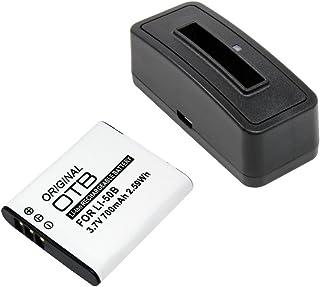 Estación de batería y batería (700mAh) para Pentax Optio WG-2 GPS;Batería substituye: Olympus LI-50B Pentax D-Li92 Ricoh DB-100
