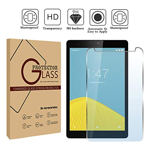 FINDING CASE Vodafone Tab speed 6 8' Tablet - Premium Tempered Glass Screen Protector Film Cover 9H Hardness Anti-Scratch Bubble-Free Ultra Clear