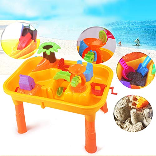 Zand Water Tabellen 2-In-1 Multifunctionele Strand Tafels Strand En Creatieve Speelgoed Stoute Fort Kinderen Educatief Speelgoed, Emmers, Schoppen