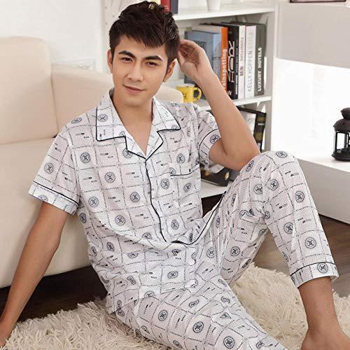 SleepWears pyjama badjas voor de zomer, voor mannen, korte mouwen, smal, cardigan voor de zomer, korte mouwen, voor heren, casual service thuis
