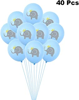 Finduat 40 Pieces Blue Elephant Latex Balloons, Boy Girl Baby Shower or Birthday Party Decorations Supplies (12 Inch)