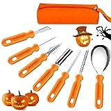 7Pcs Kit de Talla de Calabaza de Halloween,Herramientas de Tallado de Calabaza,Calabaza DIY decoración de Halloween,DIY Calabaza Decoración,Decoración de Halloween