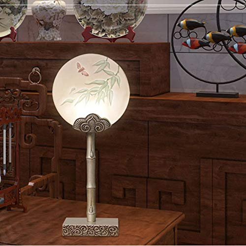 Lfixhssf nieuwe creatieve Chinese slaapkamerverlichting Warm bedlampje Modern Minimalistisch Huis Kleur woonkamer lamp Decoratie Lfixhssf (Kleur: B)