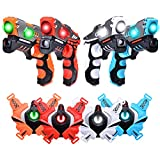 LUKAT Laser Tag Guns, Upgraded Version Ⅱ Infrared Laser Tag Guns with Vests 4 Pack for Kids Adults Indoor Outdoor Group Activity Battle, Best Christmas and Birthday Gift for Kids Age 6+ (BB8802)