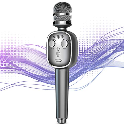 Wireless Karaoke Microphone Bluetooth 5.0 Portable Handheld...