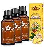 3 Pack Lymphatic Drainage Ginger Oil,SPA Massage Oils Promote Blood Circulation Relieve Muscle Soreness and Swelling