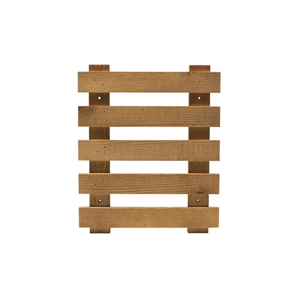 シプリー無効にする線ZENGAI フラワースタンド 木製 壁掛け式 省スペース フェンス バルコニー リビングルーム パティオ 、2色 2サイズ フラワースタンド (色 : ウッド うっど, サイズ さいず : 30x25cm)