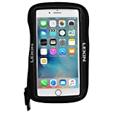 LEXIN MTB03 Big Size Black Super Cool Motorcycle Tank Bag, Magnetic Phone Case for iPhone/Andriod up to 6.5 Inch
