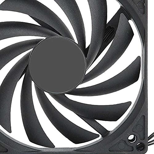 Yuyanshop DC12V ventilador de radiador de CPU PWM 45CFM 4Pin PC ventilador de refrigeración computadora caja ajustable velocidad CPU Cooer ventilador 18dBA ultra silencioso