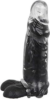 ペニスサック 拡大用 コンドーム サック リアル陰茎 陰茎袖 ペニスリング付き 液体シリコン製