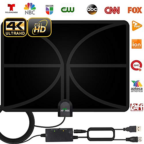 HDTV Antenna, 2020 New Indoor Digital TV Antenna 130 Miles Range with Amplifier Signal Booster 4K Free Local Channels Support All Television