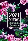 Agenda Settimanale e Giornaliera 2021: A5 Calendario 2021 gennaio 2021 dicembre 2021 Pianificatore Mensile per appuntamenti 12 mesi, Agenda italiano ... Organizer per Appunti Nero e Floreale in Rosa