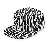 Animal Skins Zebra Print Adultos Teens Gorra de béisbol de ala Plana Ajustable Snapback de Moda Cool Hip Hop Hat