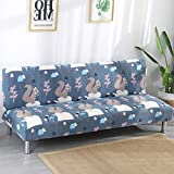 D&LE Funda de sofá Sin Brazos Estiramiento fácil Japonés Protector de sofá Four Seasons Cubierta Completa Poliéster Protector para sofás-S 2-4 Plazas 180-210cm