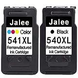 Jalee 2× Cartuchos de tinta refabricado para usar en lugar de Canon PG-540 CL-541 XL Compatible para Canon PIXMATS5150 TS5151 MG2150 MG2250 MG3150 MG3250 MG3550 MG3650 MG4150 MG4250MX395 MX475 MX535