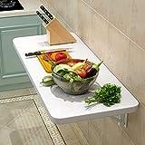 KDDEON Mesa de comedor plegable para cocina y verduras, mesa de comedor, multifuncional flotante, banco de trabajo, 39 tamaños, carga 200 libras, ahorro de espacio para oficina en casa (100 x 50 cm)