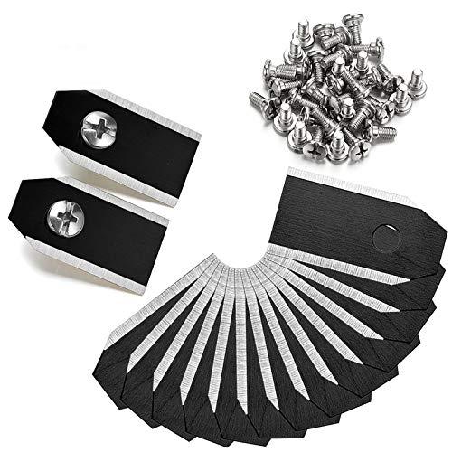 45 cuchillas de cuchilla, cuchillas para robot cortacésped Husqvarna Automower, Gardena Yardforce – (3 g – 0,75 mm) + 45 tornillos