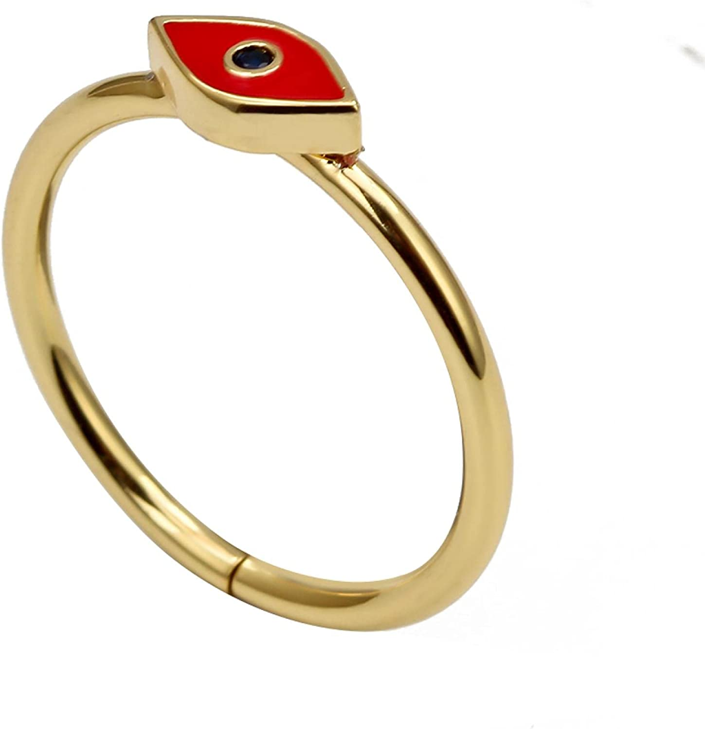 EVIL EYE Dropping Oil Adjustable Multi Free shipping Max 59% OFF New Ring Tur Color Gold