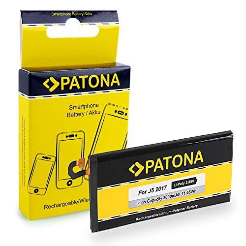 PATONA Bateria EB-BJ530ABE 3000mAh Compatible con Samsung Galaxy J5 (2017) SM-J530 SM-J530F DUOS