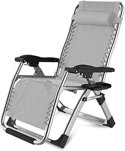Patio Lounge Chairs Recliner Folding Reclining Chairs Metal Sun Lounger Garden Patio Beach Home Decking Holiday Lounger Chairs-7 (Color : 4)