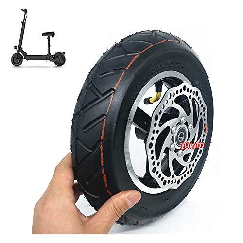 Neumáticos de scooter eléctrico, 10 pulgadas, inflado al vacío en todas las ruedas, juego de neumáticos 10x2.50, incluidas las pastillas de freno de disco, adecuado para el reemplazo de la rueda del