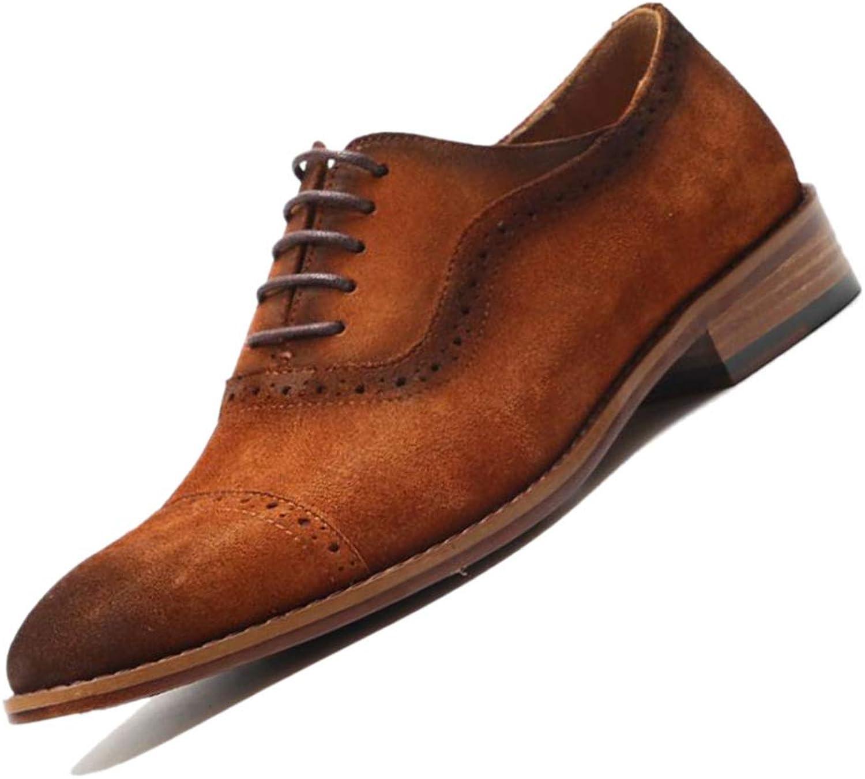 Gentleman mocka herrar Leather skor Derby Point bspringaa Andable England Work Square Root Low